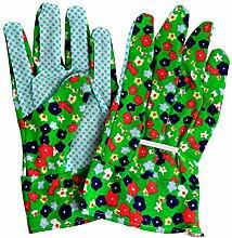 3 Paar Geblümte Garten Handschuhe Genoppt für sicheren Griff für Damen