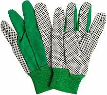 3 Paar Grüne Garten Handschuhe Genoppt für sicheren Griff für Herren