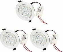 3 PC-7W 7LEDs Einbauschrank Deckeneinbau Pure White-Spot-Lampe