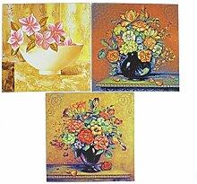 3 PC nach Hause Blumenvase Gemälde Fliesen