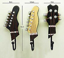 3 PCS/Set Gitarrenkopf Harzhaken Kleidung
