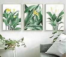 3 Print Artwork Wandkunst Dekor Volle