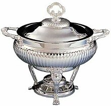 3 QT. CHAFING DISH WITH LINER - 3 QT. CHAFING DISH WITH STAINLESS STEEL LINER by Elegance Silver