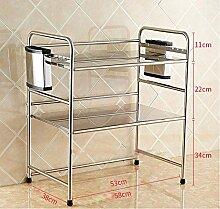 3 Regale / Küche Regal / Aufbewahrung Regal / Mikrowelle Rack ( größe : 58*38*67CM )