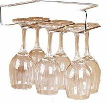 3 reihe umgekehrt hängen Weinglas rack Ohne