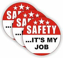 (3) Safety Its My Job Hard Hat Aufkleber |