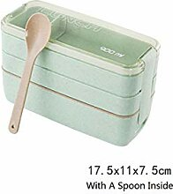 3 Schicht Bewegliche Weizenstroh Lunchbox Food