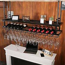 3 Schichten Eisen hängend Weinglasregal Weinregal
