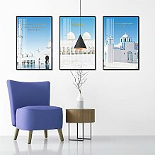 3 Schlafzimmer Wohnzimmer Malerei Dekoration Volle
