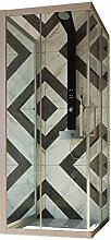 3-seitige Duschkabine in PVC 70x90x70 CM H190