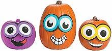 3 Set Halloween Kürbis Deko Dekoration Set Kit gestalten Aufkleber