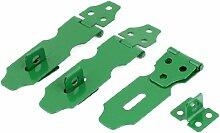 3 Set Schrank Sicherheit Vorhängeschloss Tür-Verriegelung Haspe Staple Set Metall 10.92 cm grün