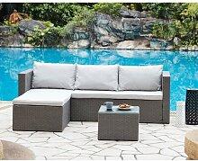 3-Sitzer Lounge-Set Dawnee aus Polyrattan mit