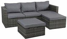3-Sitzer Lounge-Set Laumer aus Polyrattan