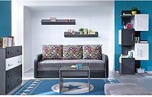 3-Sitzer Schlafsofa aus Leder Ebern Designs Farbe:
