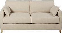 3-Sitzer-Schlafsofa beige, Matratze 14 cm Julian