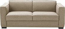 3-Sitzer-Schlafsofa, beige mit Matratze 14 cm