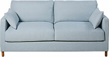 3-Sitzer-Schlafsofa eisblau, Matratze 14 cm