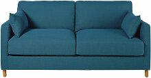 3-Sitzer-Schlafsofa petrolblau, Matratze 14 cm