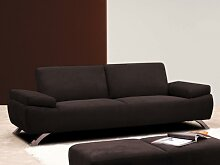 3-Sitzer-Sofa Microfaser Polka - Braun