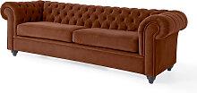 3-Sitzer Sofa Valentina, braun