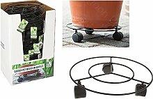 3 stabile Pflanzenroller, Durchmesser: 28cm, ideal für den Garten