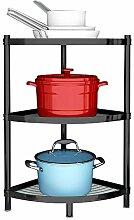 3-stöckiges Küchenregal, Kochgeschirrständer,
