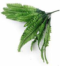 3 Sträuße Künstliche grün Boston Farn Kunststoff Gras Blätter Pflanze für Zuhause Hochzeit Anordnung Dekoration