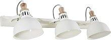 3-strahlige Wandlampe aus weißem Metall und