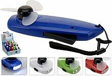 3Stück–Lampe Dynamo LED und Lüfter 13,5cm verschiedene Farben–Qualität coolminiprix®