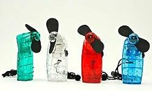 3Stück–Ventilator batteriebetrieben 9,5cm verschiedene Farben–Qualität coolminiprix®