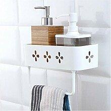 3 Stück Badezimmer-Wandregal, Regal, Duschregal,