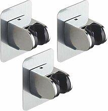 FEALING Duschkopfhalterung Saugnapf Verstellbarer Brausehalter Bad Saugnapf mit 360/°Drehbar Brausehalter f/ür Handbrause Abnehmbarer Handbrause Halterung und an der Wand montierte Saughalterung