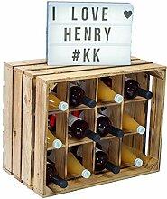 3 Stück Flaschenregal Henry 12er geflammt