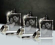 3 Stück Glas Schlüsselanhänger mit Fotogravur |
