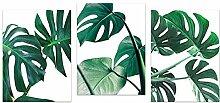 3 Stück Grüne Palmenblatt Wand Kunstdruck