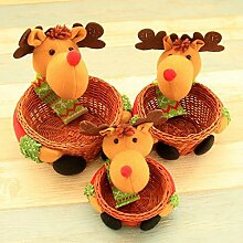 3 Stück Handgemachte Basket Christmas Box Pralinenschachtel Desktop-Dekoration Supplies
