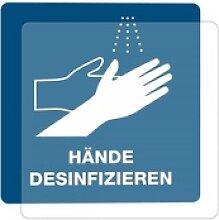 3 Stück Hinweis-Hinterglas-Aufkleber - Hände