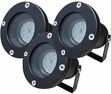 3 Stück IP68 SMD LED Boden Einbaustrahler Sophie