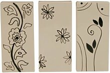 3 Stück KAMINO TREND (820625) - Heizungsverdunster, Heizkörperverdunster, Luftbefeuchter, Blütenmotive, sortierte Motive