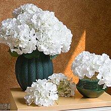 3 Stück künstliche Hortensie Blumen, Seide