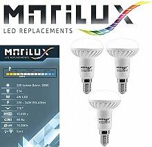 3 Stück Marilux® 4W LED-Strahler E14 Spot Lampe
