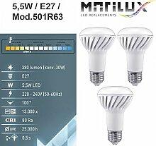 3 Stück Marilux® 5,5W LED-Lampe E27 Spot