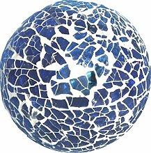 3 Stück Mosaik Kugeln blau / türkis. Durchmesser 8cm. 3 Stück