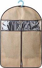 3 Stück Multi Pack von atmungsaktivem Kleidersack - Home staubdicht Kleiderbügel Kleidung Staubschutz Schutz Kleiderschrank Mantel Kleidungsstück Anzug Aufbewahrungsbeutel - klein (60 * 88cm), Medium (60 * 108cm), groß (60 * 128cm) , beige