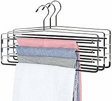 3 Stück platzsparende Hosen-Kleiderbügel für