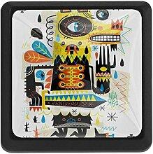 3 Stück Schubladenknauf/Ziehgriff/Gorilla Art