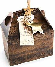3 Stück Verpackung Weihnachtsgeschenke 18,5 x