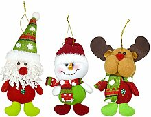 3 Stück Weihnachtliche Dekoration 8 cm New Year,