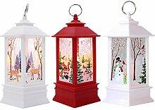 3 Stück Weihnachtskerze mit LED Tee licht Kerzen